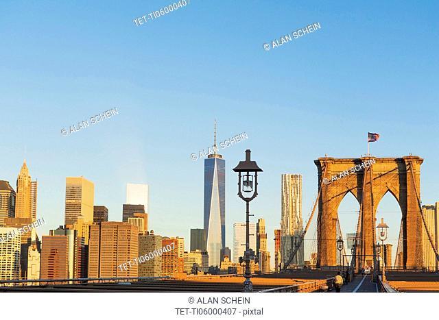 Freedom Tower and Brooklyn Bridge