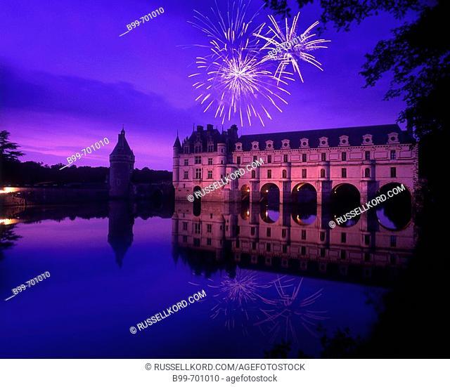 Chateau De Chenonceau Cher River Indre Et Loire, France