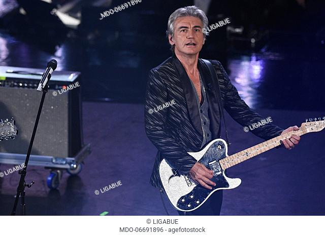 Ligabue at the fourth evening of the 69th Sanremo Music Festival. Sanremo (Italy), February 8th, 2019