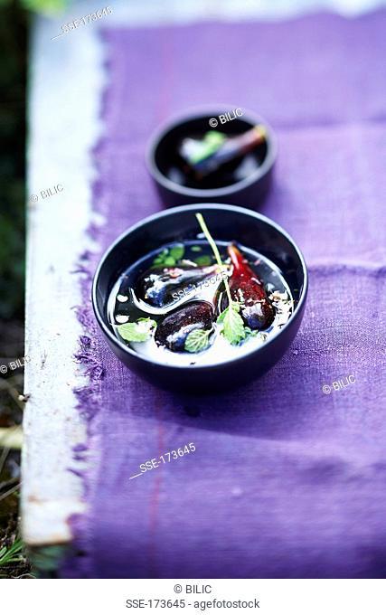 Fig and lemon balm soup
