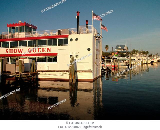 Clearwater Beach, St. Petersburg, FL, Florida, Tampa Bay Area, marina, excursion boat