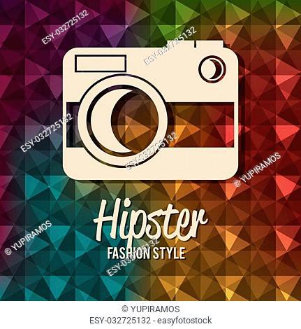 Hipster design over colorful background, vector illustration