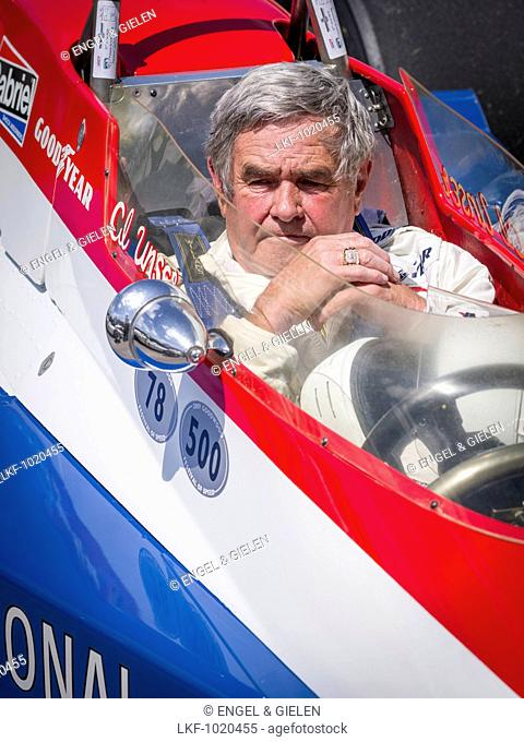 Al Unser, four times winner of Indianapolis, Goodwood Festival of Speed 2014, racing, car racing, classic car, Chichester, Susse