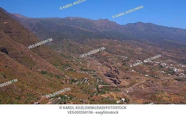 Landscape of Guimar on Tenerife, Canary Islands, Spain