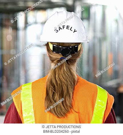 Worker wearing 'safely' helmet next time you work