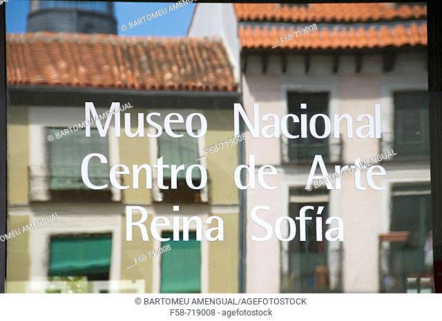 Museum sign, Madrid. Spain