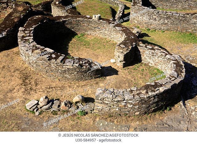 'Castro EL Castellón'. Celtic ruins at Coaña. Asturias. Spain