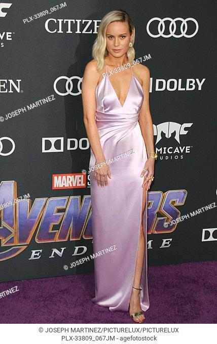 """Brie Larson at The World Premiere of Marvel Studios' """"""""Avengers: Endgame"""""""" held at the Los Angeles Convention Center, Los Angeles, CA, April 22, 2019"""