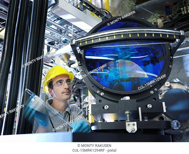 Fusion Reactor Scientist With Lens