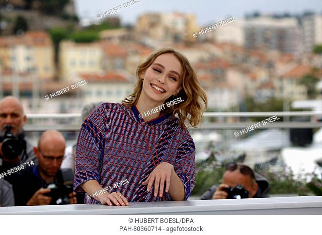 Actress Lily-Rose Depp attends the photocall of The Dancer during the 69th Annual Cannes Film Festival at Palais des Festivals in Cannes, France, on 13 May 2016