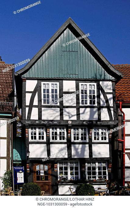 Old Timbered house in Bad Essen, Lower Saxony, Germany, Europe