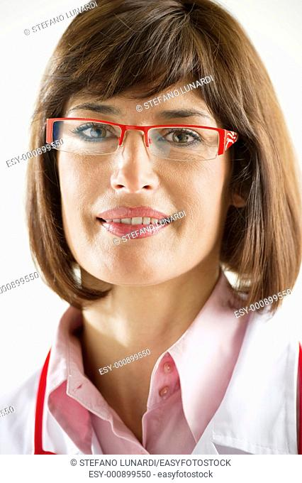 Close-up of a confident female doctor