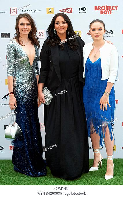 Cast and celebrities attend the world premiere of Bromley Boys held at Wembley Stadium, London Featuring: Anna Danshina, Martine McCutcheon
