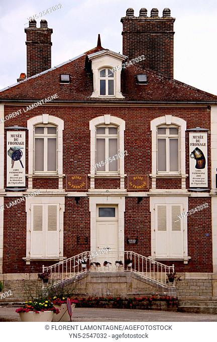 Front facade of cheese museum, Chaource, Aube, Champagne-Ardenne, France