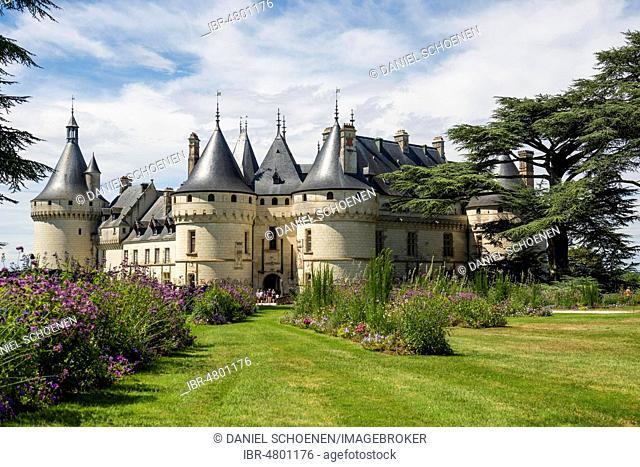 Chaumont Castle with park, Château de Chaumont, Chaumont-sur-Loire, Loire, Département Loir-et-Cher, France