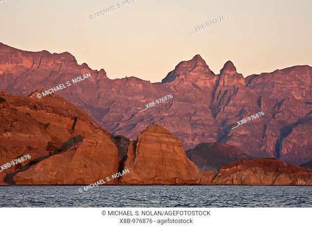 Sunrise on Isla Danzante in the Gulf of California Sea of Cortez, Baja California Sur, Mexico