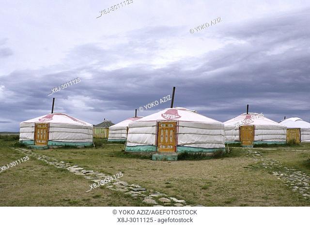 Traditional village, Elsen, Mongolia