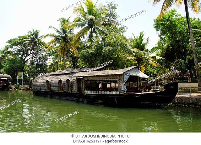 Boat in river, kerala, india, asia