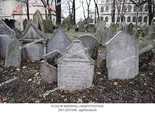 Gravestones, Jewish Cemetary, Jewish Museum, Prague, Czech Republic