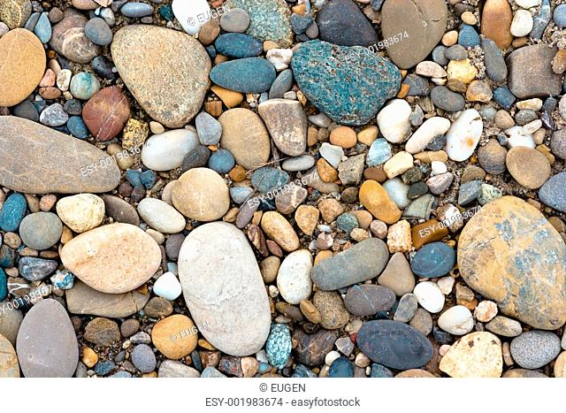 Color pebble collected in Germany