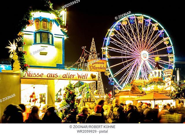 Christmas Market with ferris wheel