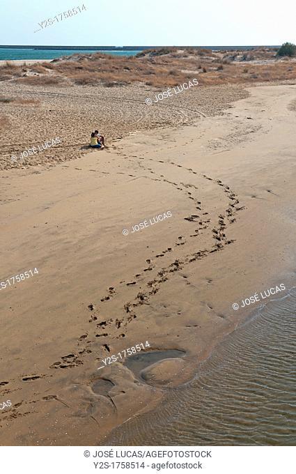 Punta del Caiman Beach, Lovers, Isla Cristina, Huelva-province, Spain