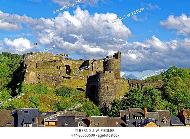 Local view, fortress, La Smelling Roche-en-Ardenne Belgium