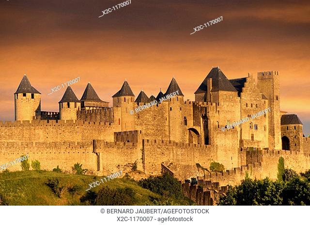 The Castle of Carcassonne. Aude. France