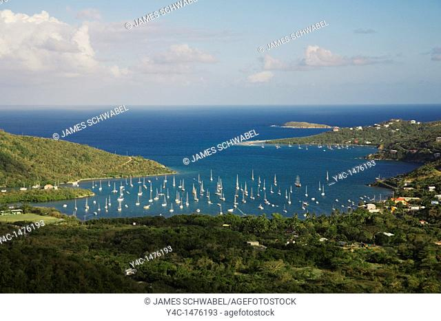 Coral Bay on the Caribbean Island of St John in the US Virgin Islands