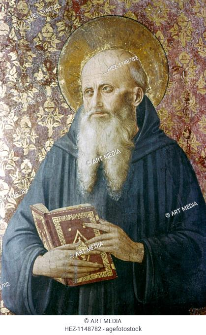 'St Jerome', mid 15th century. Born Eusebius Hieronymus Sophronius, St Jerome (c342-420) was a leading father of the Christian church