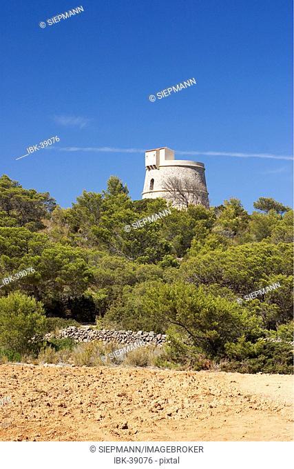 Watchtower Torre d'en Valls near Sant Carles on Ibiza