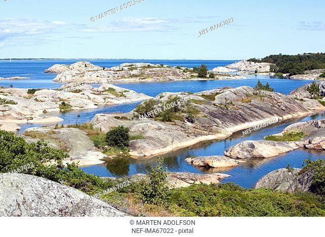 Rocks in the Stockholm archipelago Sweden