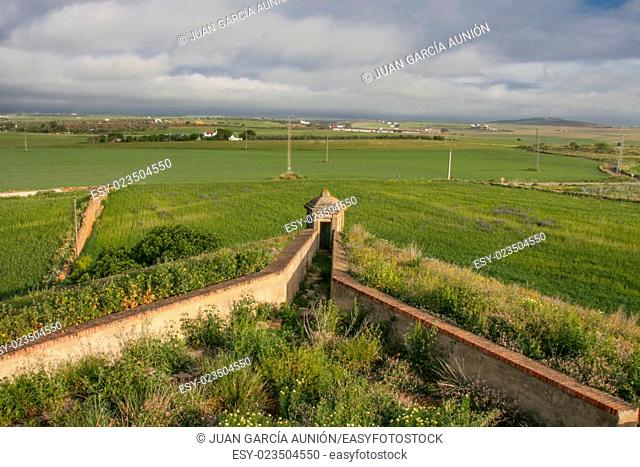 Stronghold bastion of XVII century wall, Olivenza, Spain