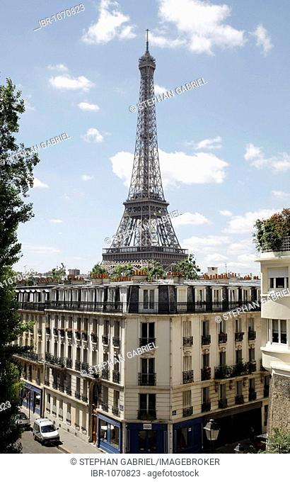 View of the Eiffel Tower, Paris, France, Europe
