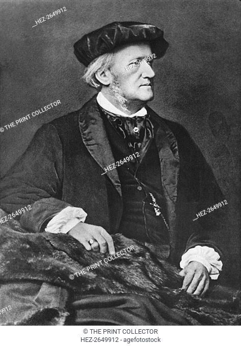'Richard Wagner', 1870, (1939). Artist: Franz Seraph Hanfstaengl