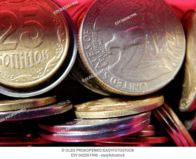Numismatics, collecting coins of different countries and denominations