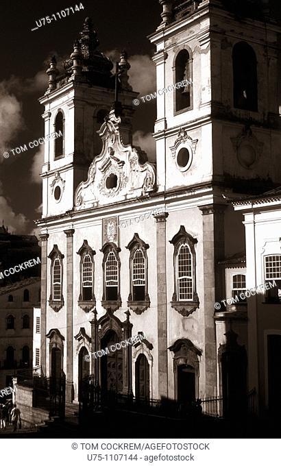 igreja de nosa senhora do rosario dos pretos pelourinho salvador de bahia brazil