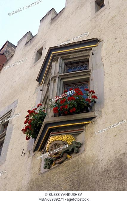 Germany, Baden-Württemberg, Lake Constance-district, Lake Constance, Überlingen, Franziskanertor-street, old town-house, bay windows