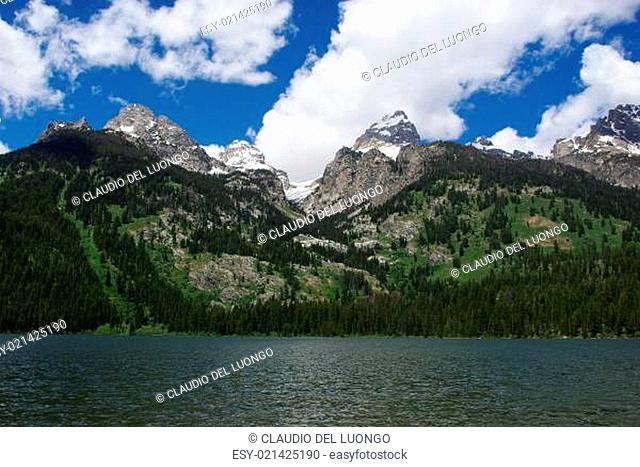 Jenny Lake and Grand Teton mountains, Wyoming