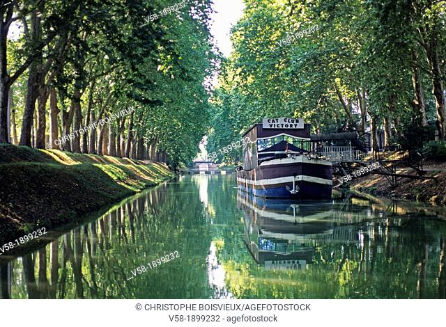 France, Haute Garonne, World Heritage Site, Toulouse, Canal du Midi, Canal de Brienne