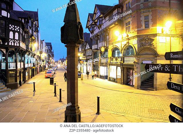 CHESTER UK-APRIL 21: Chester is arguably the richest city in Britain for archaeological and architectural treasures preserved to this day from the time of the...