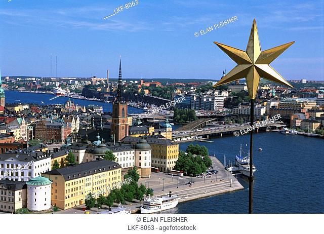 View over Stockholm and Stadhuset, Stockholm, Sweden