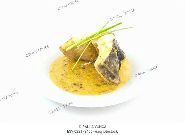 conger with leek sauce