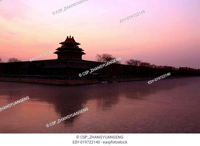 The Northwest turrets of the Forbidden City on december 22, 2013