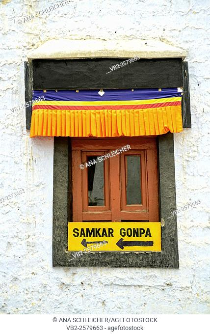 Window in Samkar Gompa, Leh (Ladakh, India)