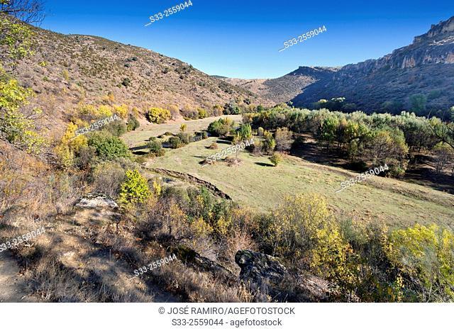 Near Lozoya river in Patones. Madrid. Spain