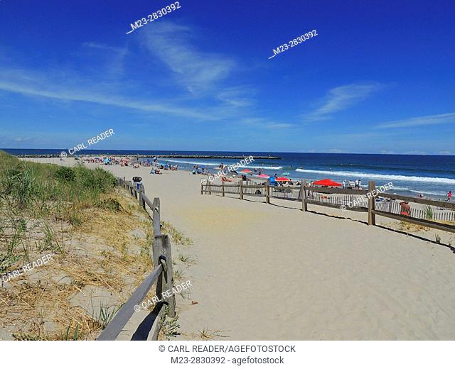 The entrance to the beach at Avalon, New Jersey, USA