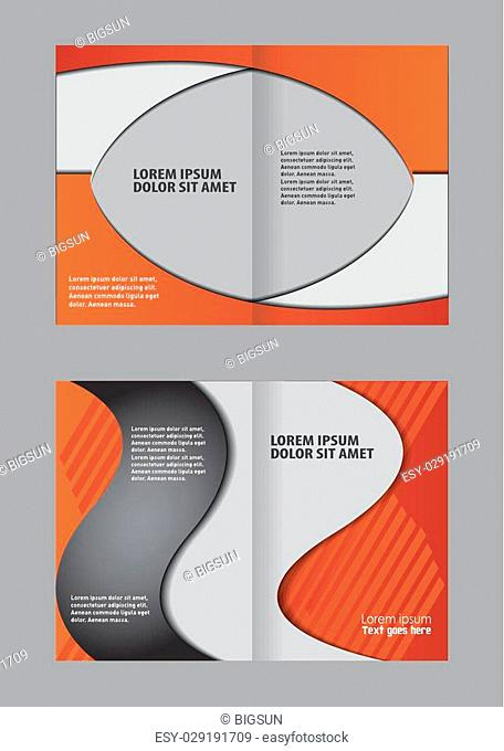 Bi-fold brochure template design