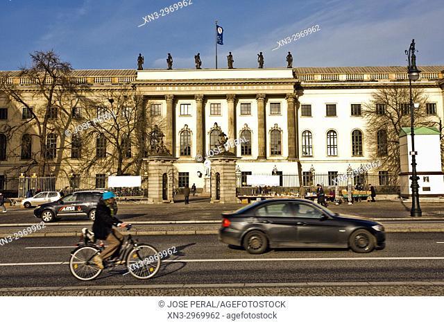 The main building of Humboldt University, located in Berlin's Mitte district, Unter den Linden boulevard, Berlin, Germany