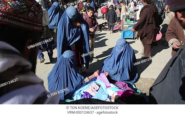 market in downtown kabul, afghanistan